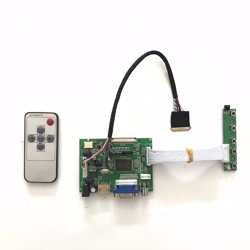 Free shipping Universal LCD controller board kit VGA DVI HMDI for 10.1 inch 1024X600 LED Panel Raspberry pi Support dropshipping rt2281 universal dvi vga lcd controller board for 17 1 inch 1680x1050 lp171we2 tl03 monitor for raspberry pi