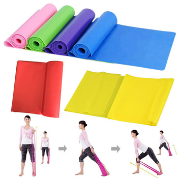 High Quality 1.5m Yoga Pilates Stretch Resistance Band Workout Elastic Exercise Training Rubber Crossfit Fitness Band Strap always fresh seal vac
