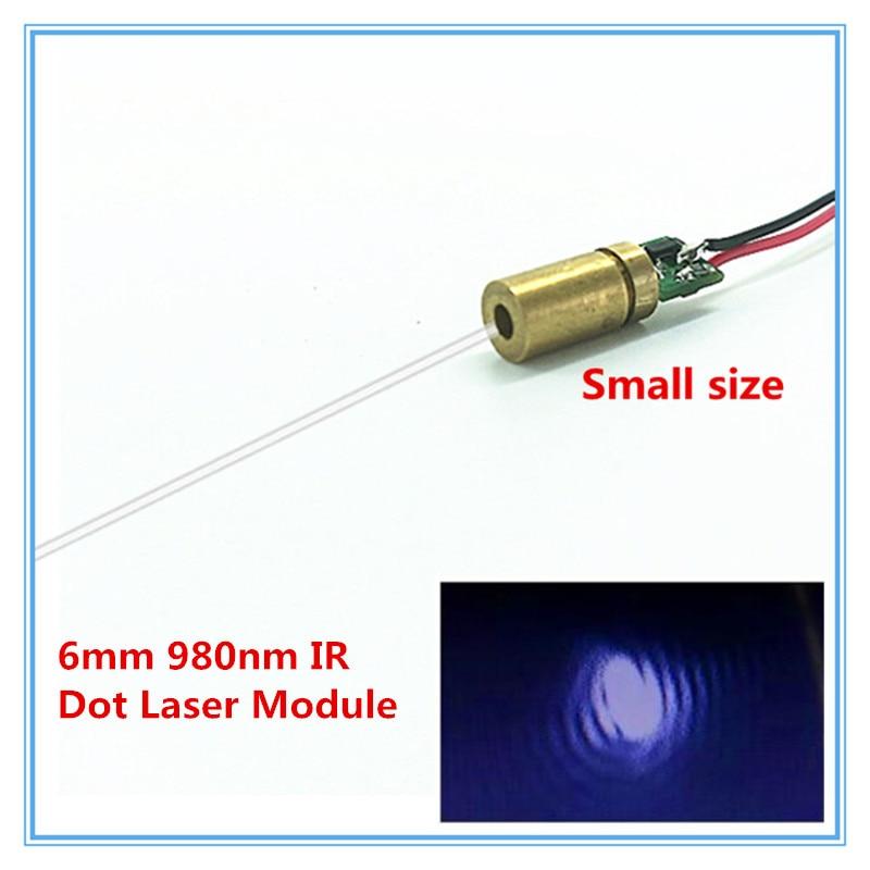 6mm 980nm 1mw 5mw 10mw IR Dot Laser Module Industrial Grade APC Driver