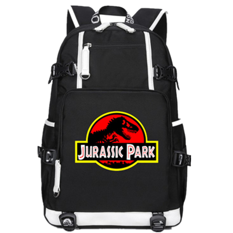 Jurassic Park Jurassic World Dinosaur Student Bookbag Casual Rucksack Student Schoolbag Bag For School Boys Girls Travel