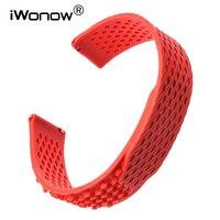 No Buckle Silicone Rubber Watchband 22mm 23mm For Citizen Seiko Casio Men Women Watch Band Quick