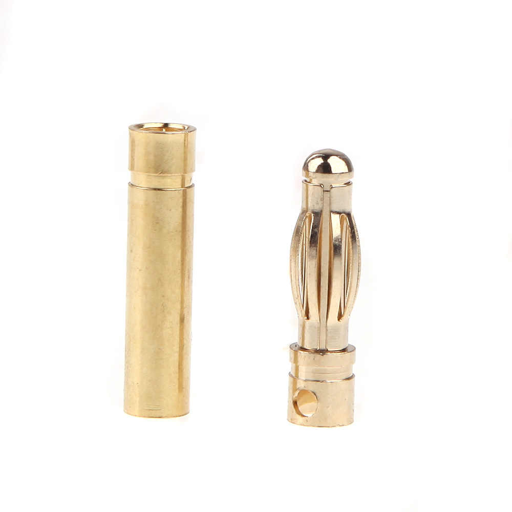 GoolRC 10 Pairs 4.0 millimetri Proiettile di Rame Spina A Banana Connettori Maschio + Femmina per RC Motor ESC Parte Batteria