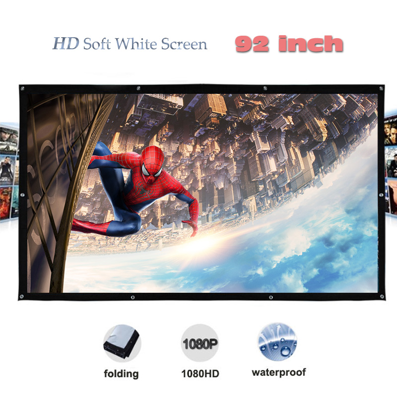 Yovanxer High Brightness DH Projector Screen pantalla proyeccion 92 inches Portable Projection Screens fast free shipping fast free shipping bracket projector screens 72 inches 16 9 tripod projection screen hd portable floor stand matt white