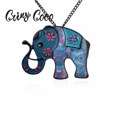 Fashion Necklaces for Women 2019 Black Enamel Zinc Alloy Cute Animal Elephant Pendant Statement Necklace Jewelry Accessories j143 elephant style cowhide zinc alloy necklace bronze coffee