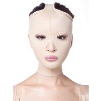 Liposuzione Dopo Bellezza Facciale Maschera Viso Linea Scultura Dopo Il Ripristino Di Bende