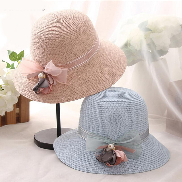 b3a5b33cc3b Fashion Lady Bucket Cap Hats for Summer Stylish Traveling Foldable Wide  Brim Beach Hats Women Summer Straw Hats