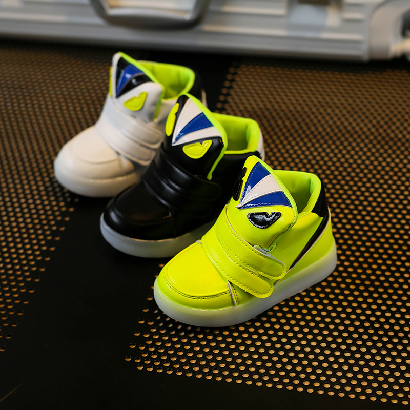 Children-Shoes-With-Light-Chaussure-Led-Enfant-Spring-Autumn-New-Cartoon-Led-Girls-Shoes-Sports-Breathable-Boys-Sneakers-Shoes-5