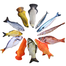 Original Plush 3D Carp Fish Shape Cat Toy Gift Cute Simulation Fish Playing Toys For Pet Cats Catnip Fish Stuffed Pillow Doll цена