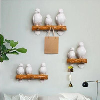 American country home wall decoration wall hook, creative resin bird, wall key hanging