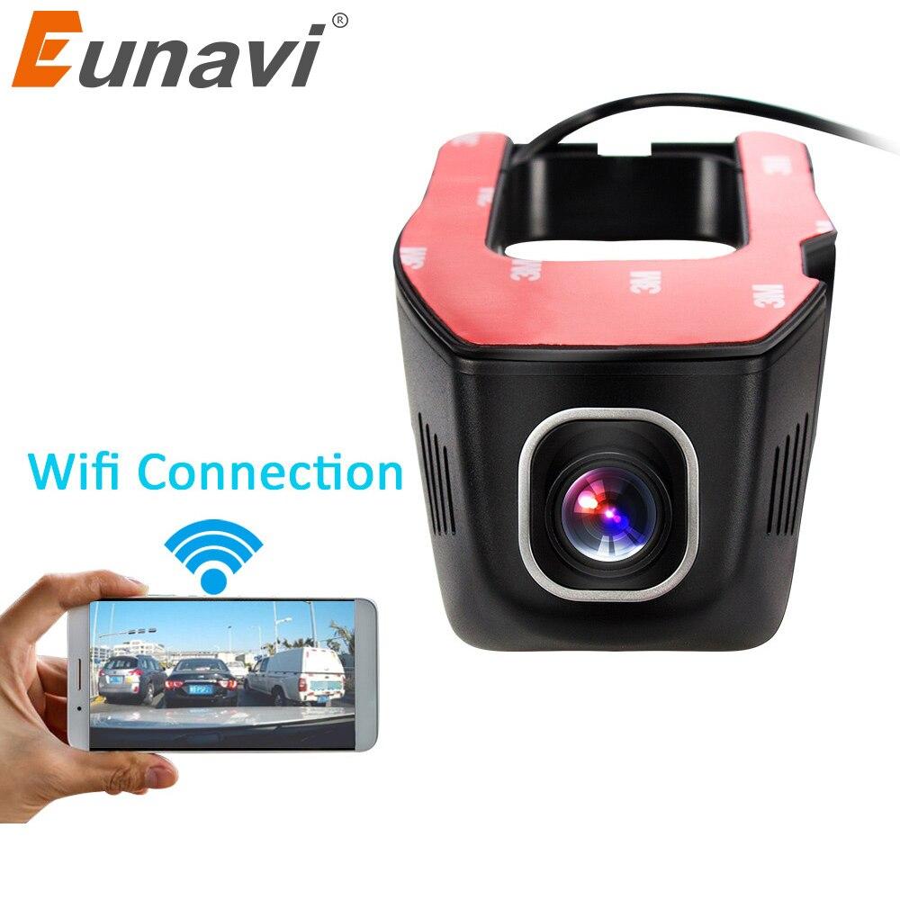 Eunavi Car DVR DVRs Registrator Dash Camera Cam Digital Video Recorder Camcorder 1080P Night Version 96655 IMX 322  WiFi v81 novatek 96655 imx 322 full hd 1080p mini camera car dvrs registrator dash camera cam digital video recorder camcorder