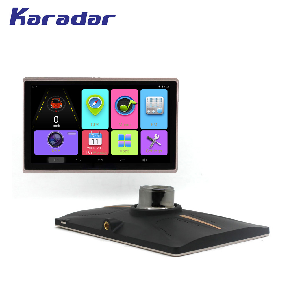 KARADAR New IPS screen 1024*600 picels 7 inch Android Car GPS navigation with blutooth fm AV-IN wifi 16G flash RAM MTK8217
