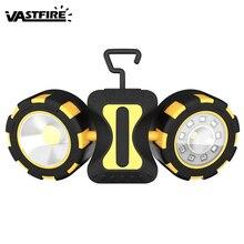 цена на VastFire Outdoor Magnetic Hook COB Work Light Flashlight Car Inspection Lamp Camping Night LED No Battery