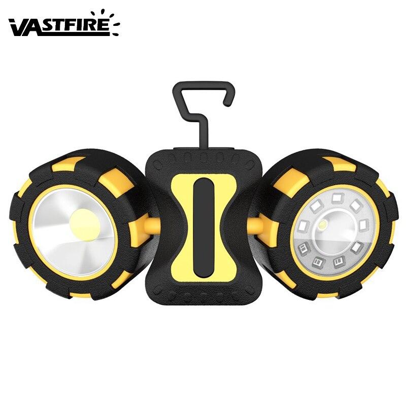 VastFire Outdoor Magnetic Hook COB Work Light Flashlight Car Inspection Lamp Camping Night LED No Battery