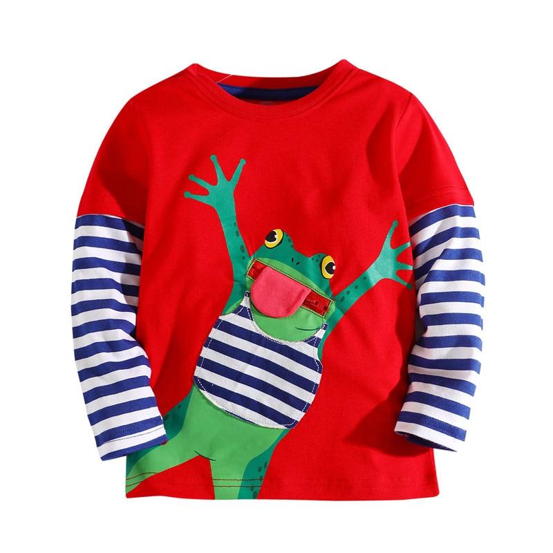 Little bitty Children s t shirt cotton applique fashion 2018 boys t shirts long sleeve kids