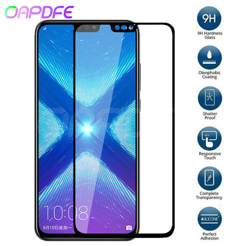 9 H verre de protection pour Huawei Honor 8X 8C 8A 9i 10i 20i V20 V10 V9 Play Note 10 Magic 2 Film de protection d'écran en verre trempé