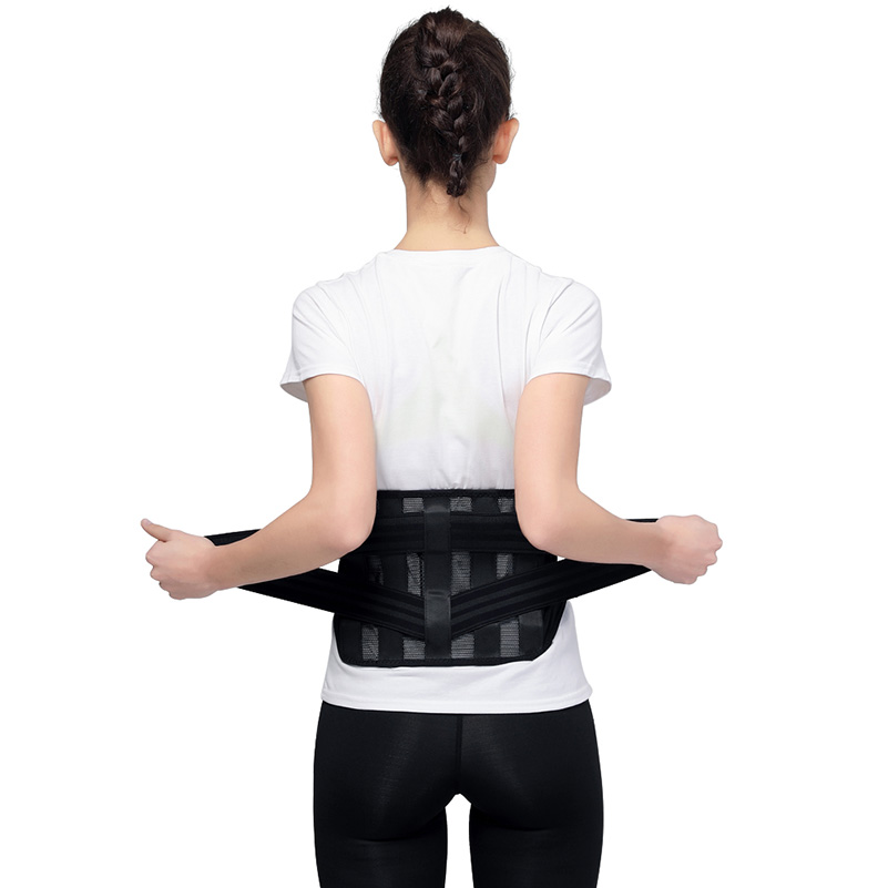 Dropshipping Lumbar Support Back Brace with Removable Pad Posture Corrector Improves Posture and Provides Lumbar Support