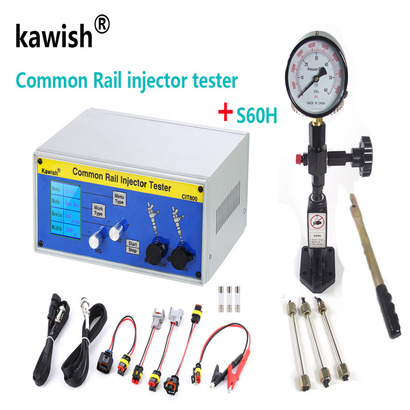 Atualizar CIT800 multifunções diesel injector common rail testador injector diesel Piezo Injector testador + S60H validador