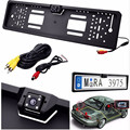 New Europe license plate frame 170 European Universla Car License Plate Frame Auto Reverse Rear View Backup Camera 4 LED
