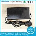 CE Rohs Auto 21 V 10A Carregador De Bateria de Lítio Para 18 V 18.5 V 5S Li-Ion Bateria Lipo