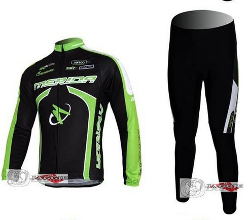Merida Green cycling Team wear clothes tights bicycle MTB Road bike riding cycle long sleeve jersey Z123 sets