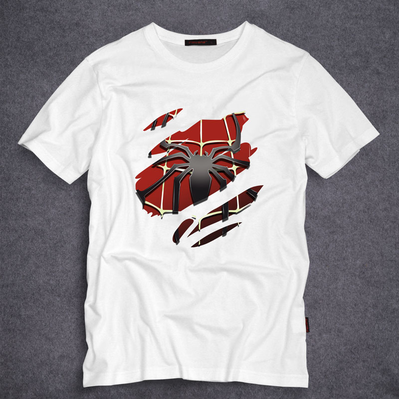 spiderman adult cool movie t shirt the amazing spider man cotton tees tops mens fashion short. Black Bedroom Furniture Sets. Home Design Ideas