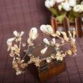 Листья золотая корона и Барокко роскошный свадебный невесты ретро роскошный стиль головной убор
