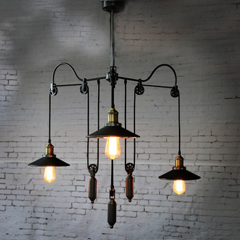 Vintage fashion pulley art pendant light special club bar lamp YT1837