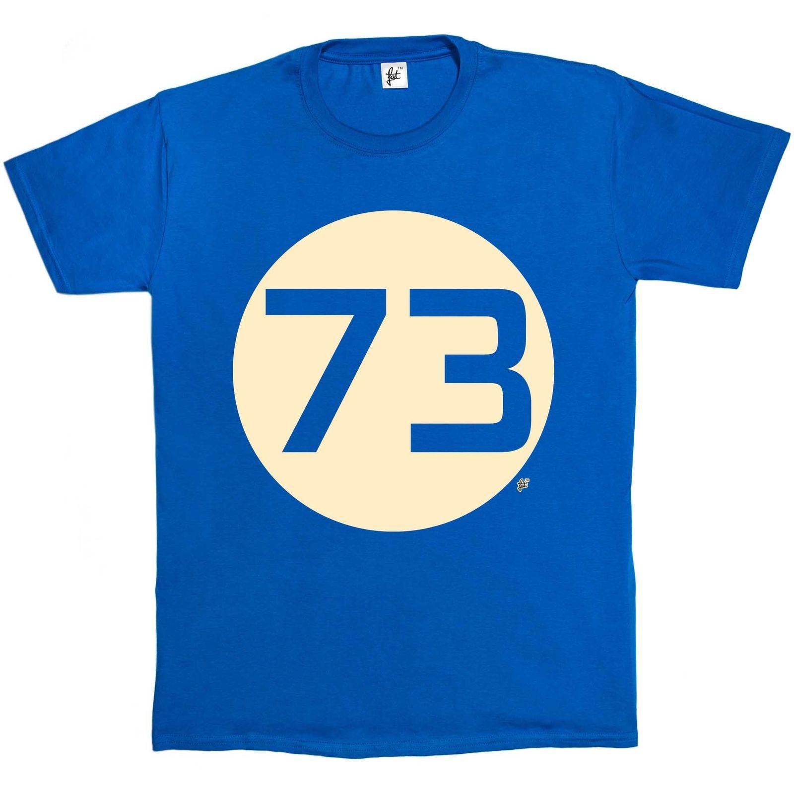 Sheldons Favourite Number 73 Seventy Three BBT Mens T-Shirt Tops Tees Printed Men T Shirt
