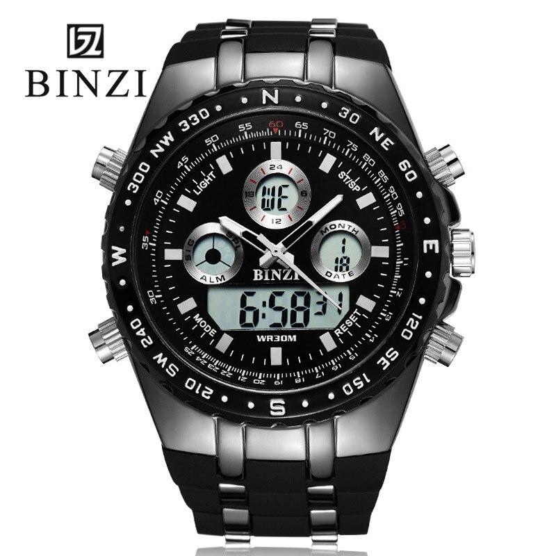 Спортивные часы человек Relogio masculino Военная Униформа армии Для мужчин наручные часы <font><b>xfcs</b></font> Digital 2018 binzi бренд мужской большой черный наручные часы