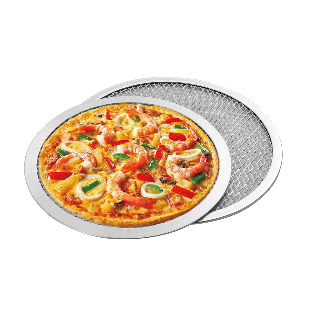 6/8/9/10/11/12 inch Aluminium Flat Mesh Pizza Screen Oven Baking Tray Net Bakeware Cookware kitchen baking tool  Pizza Tools