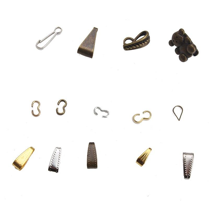 50pcs/lot 10*4mm Necklace Bracelet Accessories Pendant Connectors Clip For Diy Jewelry Components