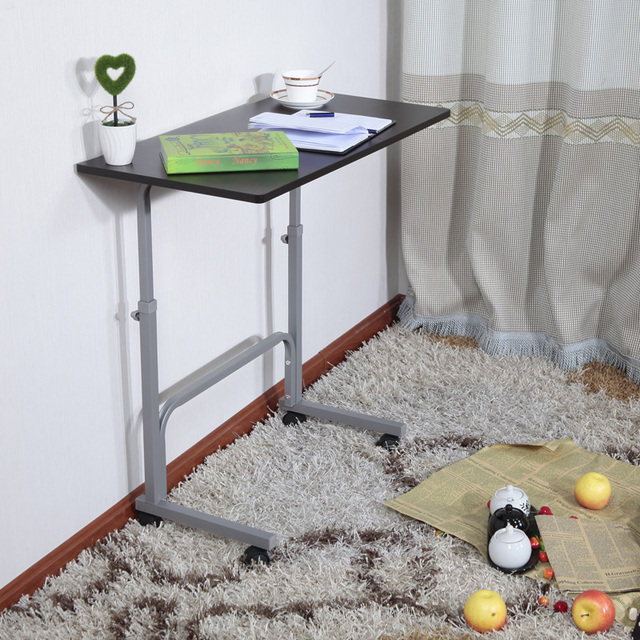 Simple Bed And Study Desk Lazy Mobile Home Office Desk Set To Lift Small  Laptop Table