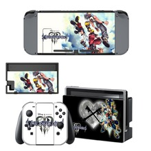 лучшая цена Kingdom Hearts Decal Vinyl Skin Sticker for Nintendo Switch NS Console+Controller+Stand Holder Protective Film