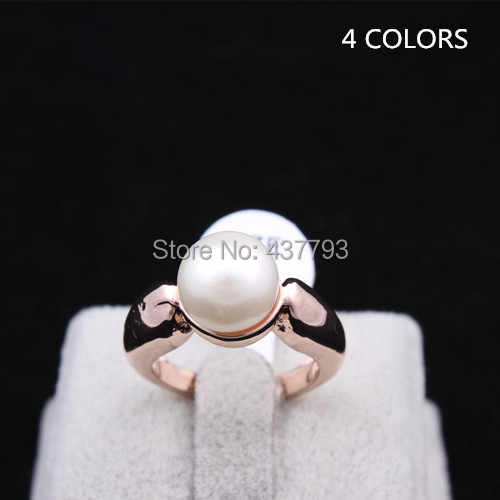 SWOUR New Jewelry Gold Color Fashion Pearl Design Finger Ring High Quality R394