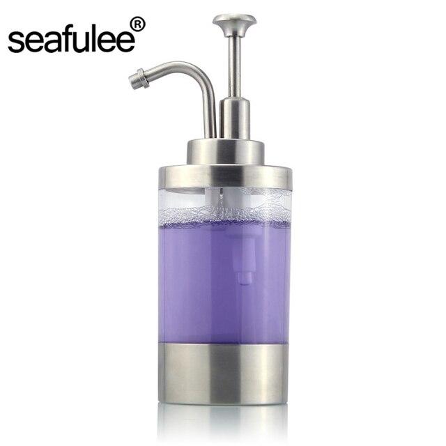 304 Stainless Steel Liquid Soap Dispenser Pump Bottle Bathroom Kitchen  Countertop Refillable Accessory 250ML