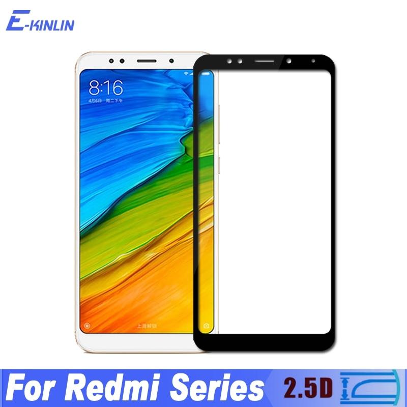 2.5D Full Tempered Glass Film Cover For Xiaomi Redmi Y1 Lite Note 5 Pro Plus AI 5A Prime S2 Screen Protector Protective Film