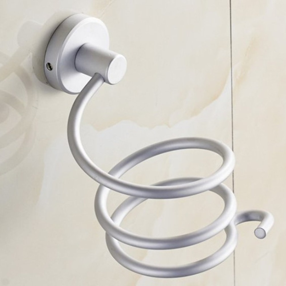 ICOCO Aluminum Bathroom Shelf Durable Blow Hair Dryer Holder Bathroom Storage Stand Hair Dryer Rack Bathroom Storage Accessories