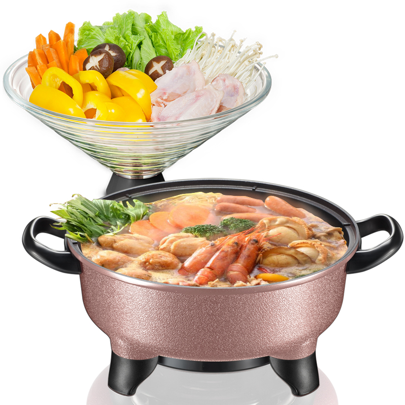 Bear Electric Hot Pot Electric Cooker Multifunction Electric Skillets Boiling Pan DHG-B40K5 dmwd 110v multifunction electric skillet stainless steel hot pot noodles rice cooker steamed egg soup pot mini heating pan