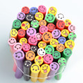 50pcs Fimo Nail Stickers Fimo Smile Face 3D Nail Art Decoration Polymer Clay Fimo Rods For Nail DIY Design Beauty
