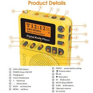 Image 5 - מיני כיס דיגיטלי DAB רדיו FM מקלט RDS נייד MP3 נגן עם LCD תצוגת מסך תמיכה TF כרטיס שינה זמן סט