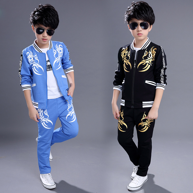 Children 's new casual Korean children' s dragon boy suit two - piece suit designers children s