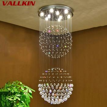 Роскошные хрустальные люстры, современная лампа GU10, светодиодные хрустальные светильники, люстра, подвесная светодиодная лампа, декоратив