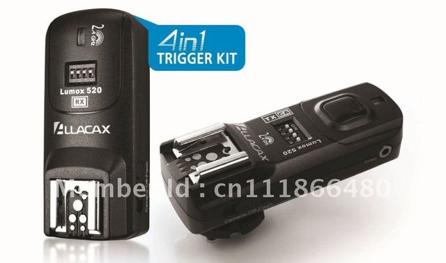 Lumox 520 2.4GHz 4 In 1 Trigger Kit Radio Wireless Trigger Starter Kit, Shutter Release, TTL pass-through for Nikon 2N 1TX+1RX
