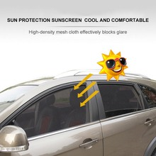 2Pcs Car Front  Rear Side Window Sun Shade Mesh Fabric Magnetic Adsorption Sun Visor Shade Cover Auto Sunshade Curtain все цены