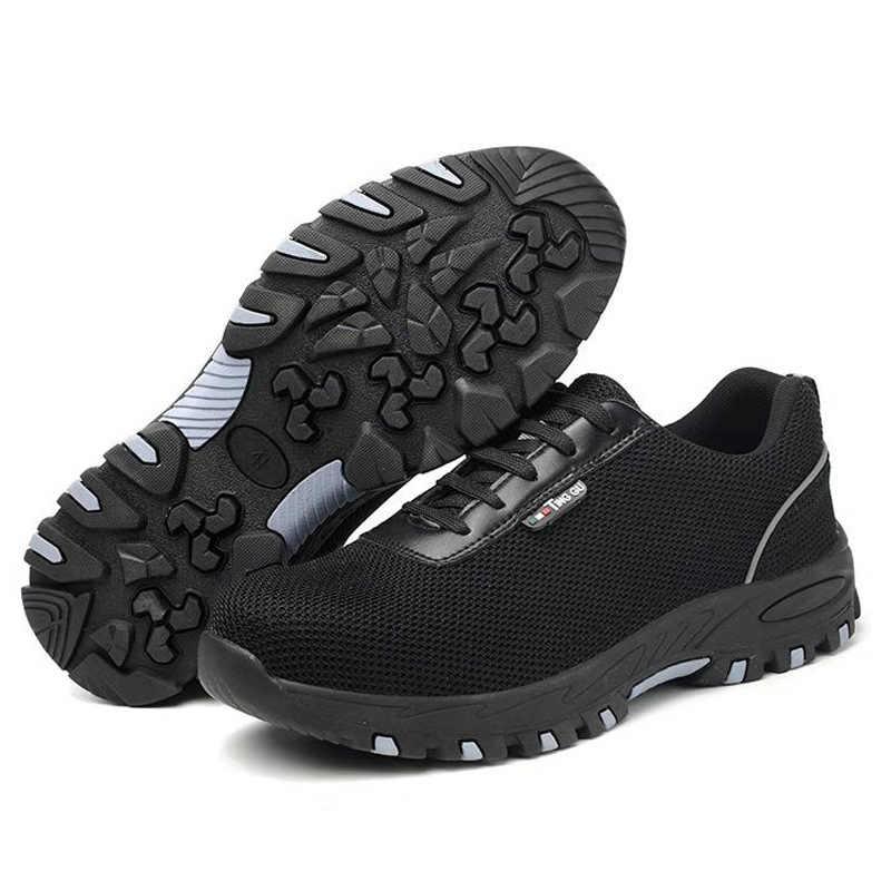 Mannen Stalen Neus Veiligheid Werk Schoenen Voor Mannen Lichtgewicht Ademend Anti-Smashing Anti-Slip Anti-Statische Beschermende schoenen Veiligheidsschoenen