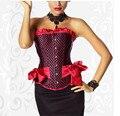 Бесплатная доставка Большой размер женщин свадебное платье корсеты и бюстье корсетные красный корсет sml XL XXL s-3xl 4XL 5XL 6XL
