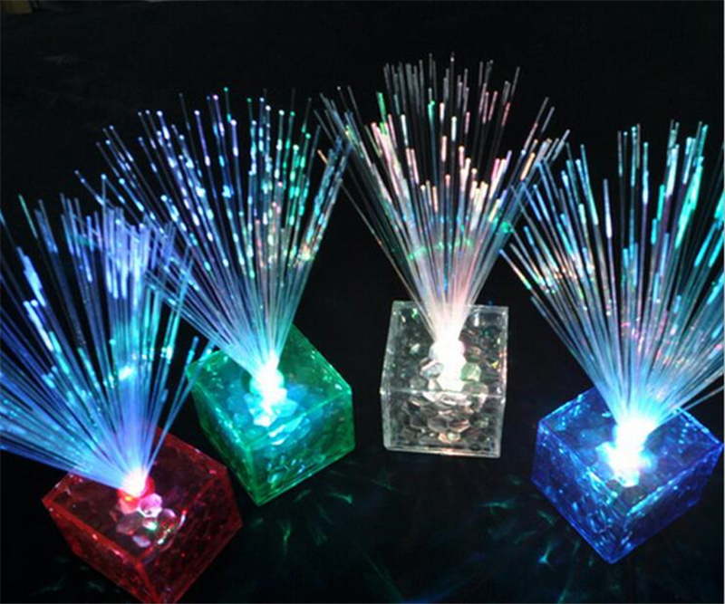 Lighting Of Christmas Tree 2014: 1PCS 16cm Fiber Optic Christmas Tree LED Water Cube