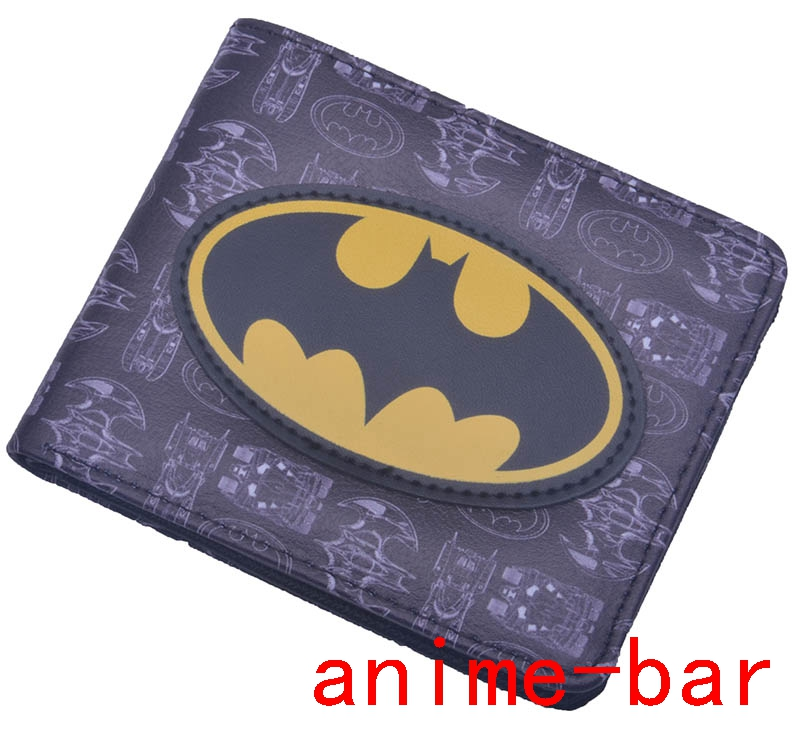 New DC Superman Batman Bifold Wallet Photo Card Holder Short PU Leather Unisex Purse Fans Must-have Free Shipping zelda wallet bifold link faux leather dft 1857