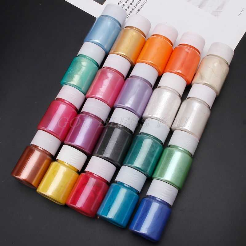 20 色雲母粉エポキシ樹脂染料パール顔料天然雲母鉱物粉末手作り石鹸着色粉末