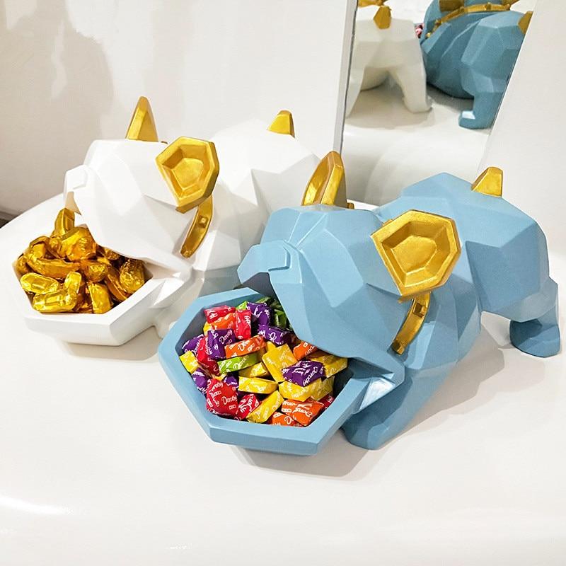 Creative Bulldog Candy Box Decoration Lucky Dog Creative Entrance Concealer Disk Door Shoe Cabinet Key Storage